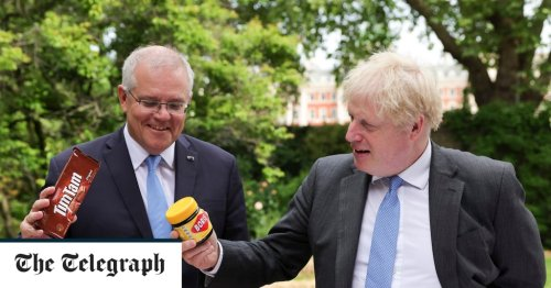 Pictures of the Day: Boris gifted antipodean delicacies - Vegemite and Tim Tams
