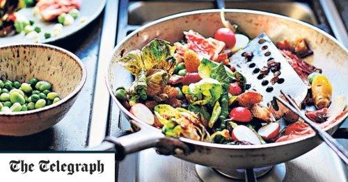 Quick-fried chorizo, potato and asparagus salad recipe