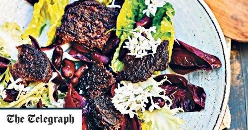 Vegetarian bean burgers with caraway and garlic recipe