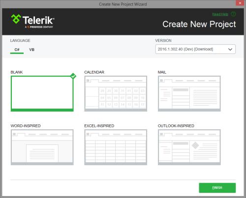 Visual Studio Templates | Telerik UI for WPF