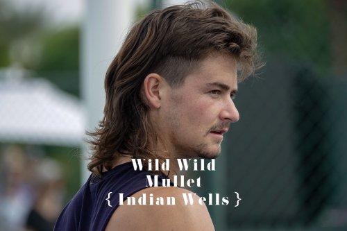 J.J. Wolf whips out Wild Wild Mullet at BNP Paribas Open | Tennis.com