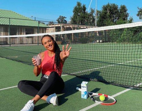 Heather Watson kicks it up a notch with Alpro court challenge | Tennis.com
