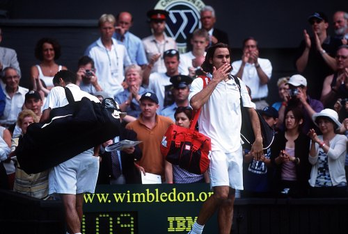 Four for Federer: Roger comes of age at Wimbledon by dethroning his hero, Pete Sampras   Tennis.com