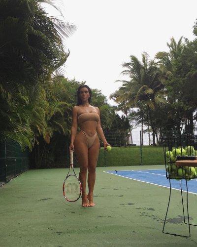Tennis Anyone? Kim Kardashian hits the court | Tennis.com