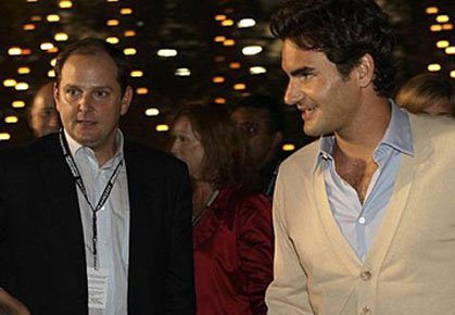 Federer and Godsick Leave IMG   - Tennis Now