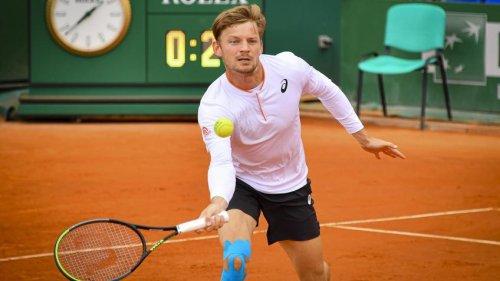 David Goffin reacts to surprising Alexander Zverev in Monte Carlo