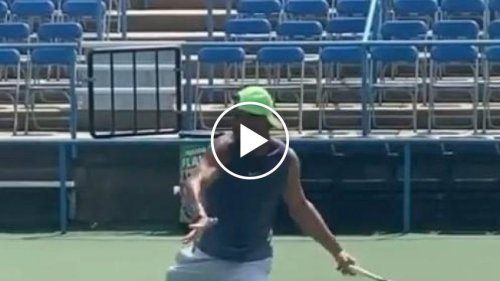 Rafael Nadal trains in Washington!