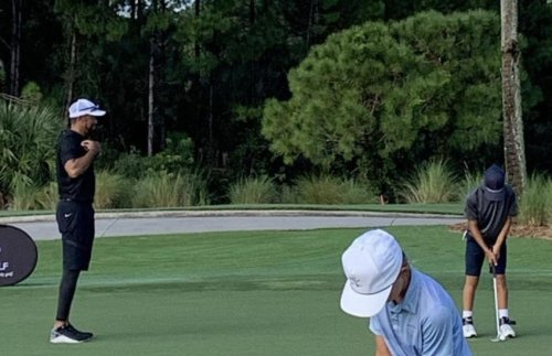 Tiger Woods, new photos on the golf course