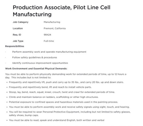 Tesla ramps hiring for 4680 pilot line in Fremont