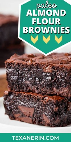 Almond Flour Brownies – Super Gooey! (paleo option)