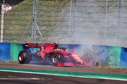 Sainz explains how '35-40kph' tailwind caused Q2 crash - The Race