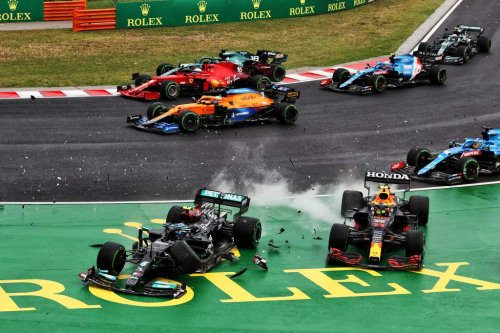 Hungarian GP red-flagged, Verstappen involved in crash - The Race