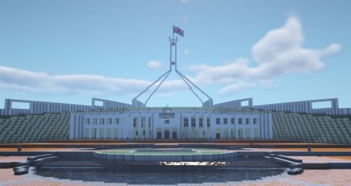 Gamers build life-size model of Parliament House in virtual world of Minecraft