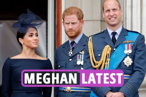 Meg & Harry fans post sick messages about Queen's health after hospital stay