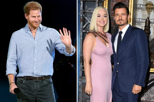 Harry reveals he's been bonding with neighbours Orlando Bloom and Katy Parry