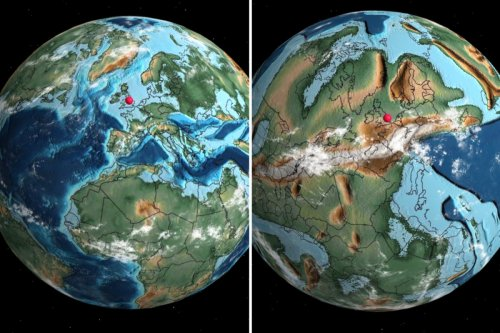 Find your home when DINOSAURS roamed Earth with this amazing map