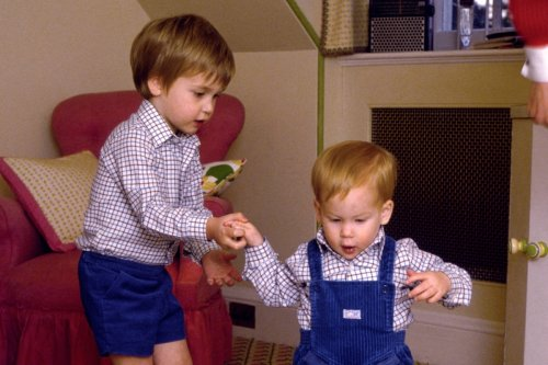 William used to smother Harry in kisses as boys & showed him off like a 'toy'