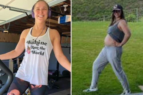 Ronda Rousey shows off baby bump as UFC and WWE legend celebrates Mother's Day