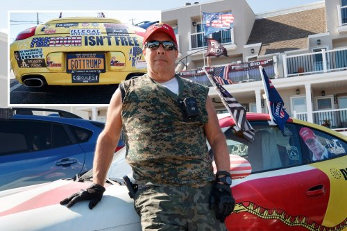 Trump fan sues town for $25M after ordered to take MAGA flags off car