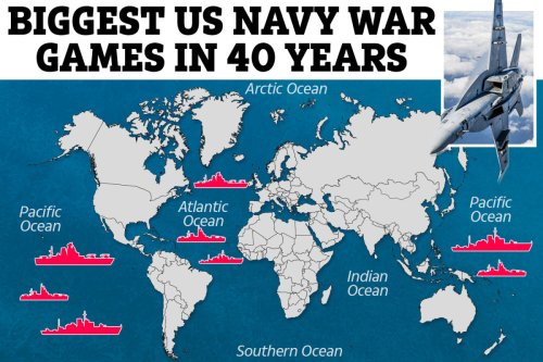 Biggest US Navy war games in 40 years to prepare for WW3 across 17 times zones