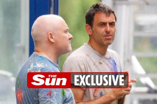 Ronnie O'Sullivan swaps his snooker cue for brush with artist Damien Hirst