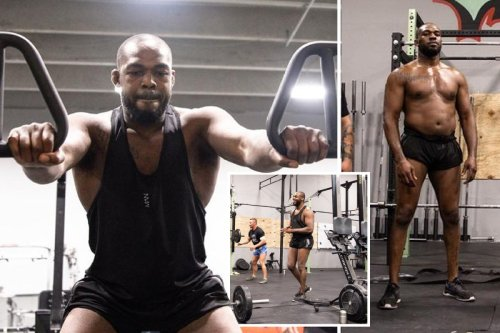 Jon Jones looks huge in latest training pictures ahead of UFC heavyweight debut