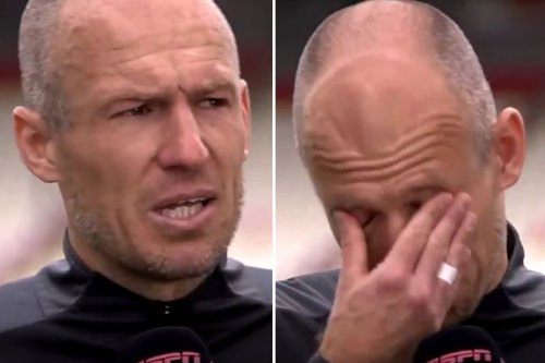 Robben in TEARS after first start since September and claiming two assists