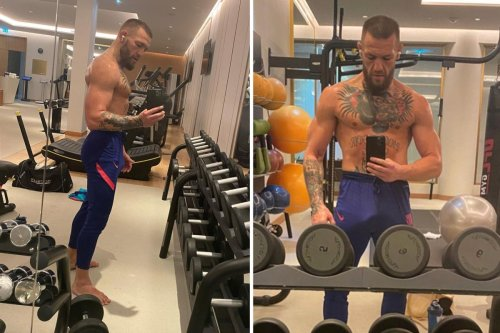 McGregor reveals stacked and bulging frame as he steps up training for Poirier