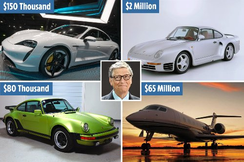 Inside Bill Gates' $100M luxury car and private jet collection