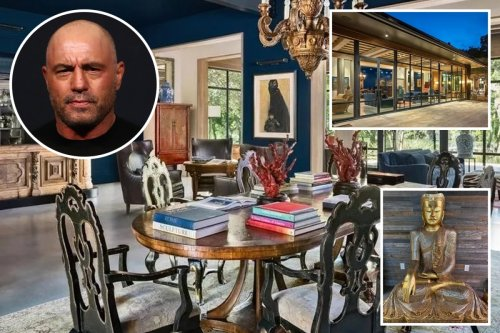 Inside Joe Rogan's £11m Texas mansion with pool, giant Buddha and podcast room