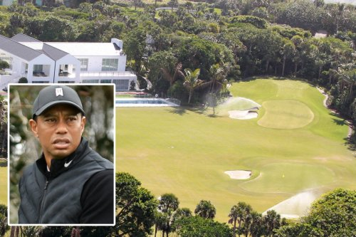 Tiger Woods 'tears up golf course in garden of £40m mansion after crash injury'