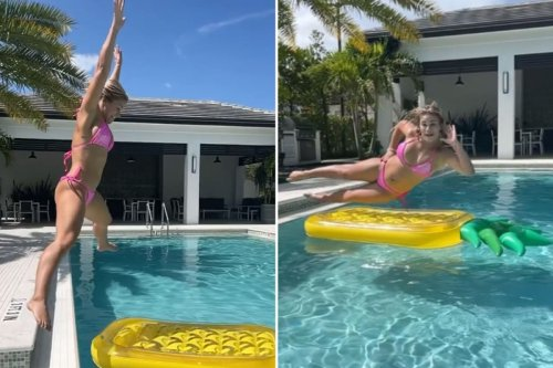 VanZant does pool flips in pink bikini amid rumors of Ostovich fight