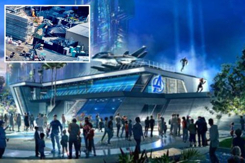 Drone footage reveals first look at Disneyland's new Avengers Campus attraction