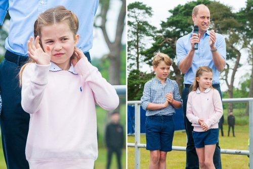 Princess Charlotte steals the show in £79 pink sweatshirt at half marathon