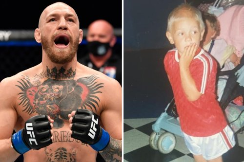 McGregor in adorable pic wearing Man Utd shirt after hinting at BUYING club