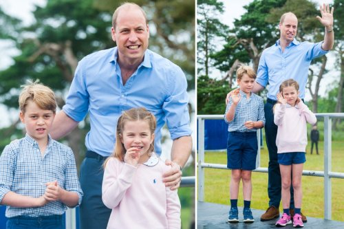 William grins with George & Charlotte on Father's Day after Harry rift claims