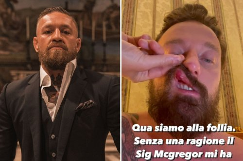 Conor McGregor 'punched Italian DJ leaving him with bloody lip & nose'