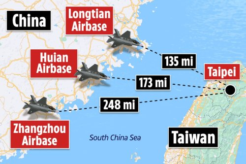 China on war footing as it beefs up 3 air bases near Taiwan amid WW3 fears