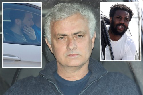 Mourinho seen for first time since sacking as Spurs stars leave training ground