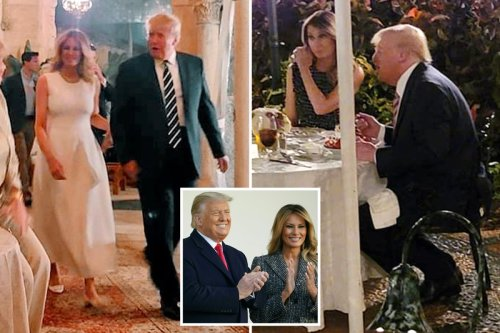 Melania Trump makes second public appearance in a week as she dines with Donald