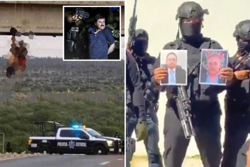 El Chapo cartel torture rivals to death before hanging bodies from bridge