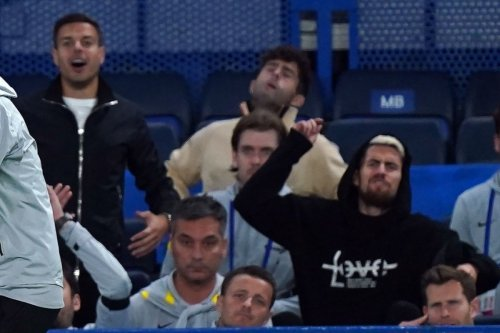 Chelsea fans love trio's reaction on bench during Villa clash after ref call