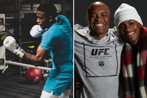 UFC legend Anderson Silva's son Kalyl shows off speed and power ahead of debut