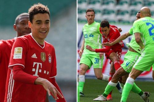 Wolfsburg 2 Bayern 3: Musiala nets twice as Munich take huge step towards title