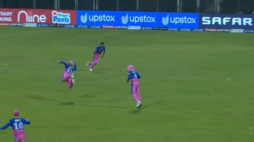 Sanju Samson takes the flying catch and fans reacted hilariously