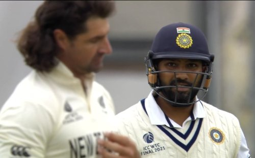 Video: Rohit gives a 'killer look' after hitting Grandhomme for a boundary