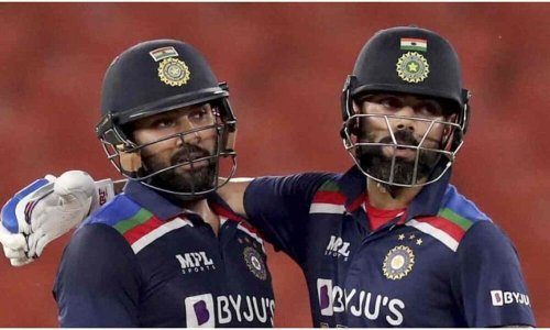 T20 World Cup 2021: Watch Rohit Sharma and Virat Kohli have fun together, a slap on the rift theory again