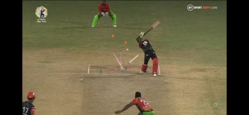 CPL LIVE: DJ Bravo get clean bowled in second semifinal against GAW