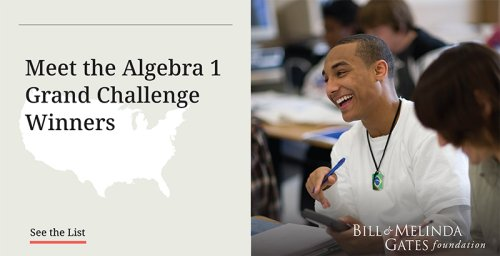 Hughes: Every Student is a 'Math Person.' With Grants of up to $1 Million, 11 Groups Will Pilot Algebra 1 Programs in Schools — and Prove It