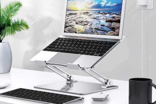 Elevate Your MacBook To Your Eye Level With This Ergonomic Adjustable Stand For $22